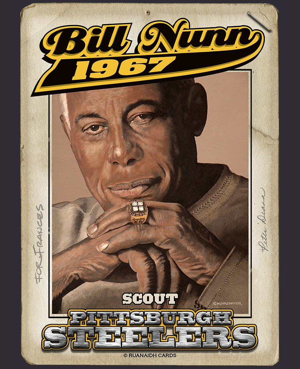Bill Nunn, Sr. Pittsburgh Steeler Scout Card