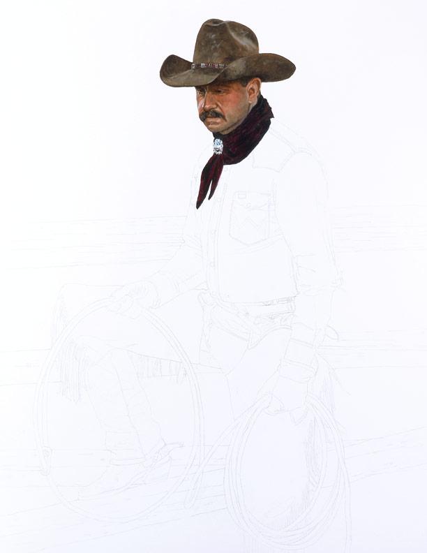 Bronze Cowboy WIP 1