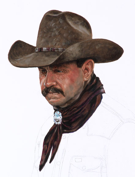 Bronze Cowboy WIP 2