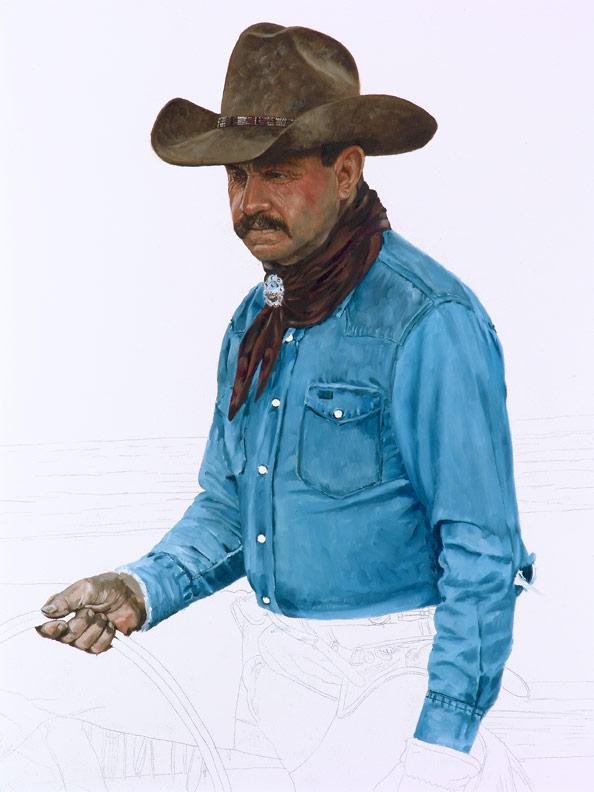 Bronze Cowboy WIP 3