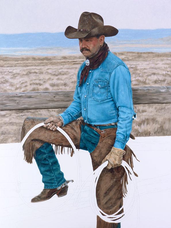 Bronze Cowboy WIP 7