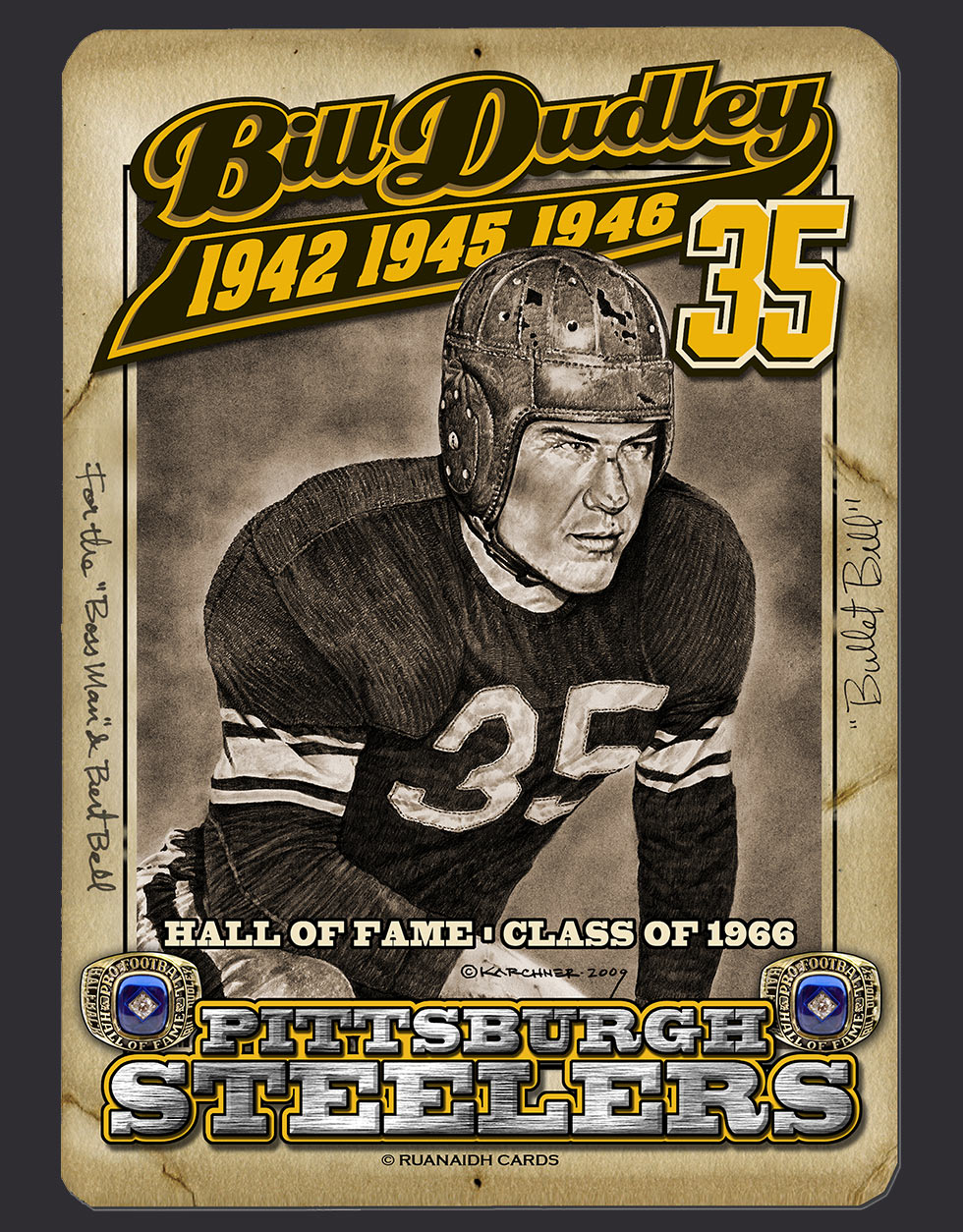 NFL Hall of Famer, Bill Dudley Card