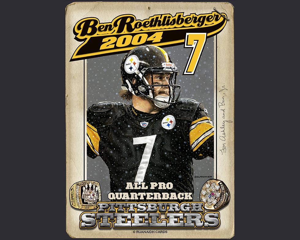 Standing Tall Ben Roethlisberger Card