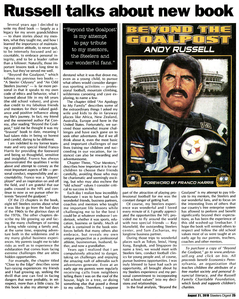 Steeler Digest Article