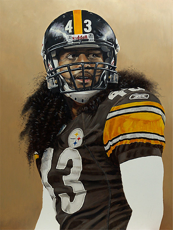 Troy Polamalu Painting WIP 07