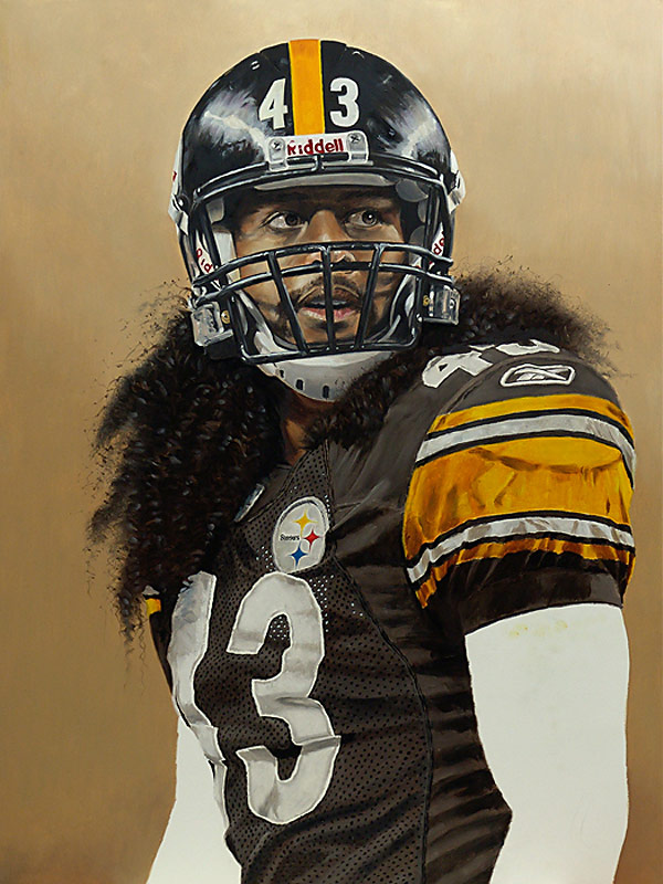 Troy Polamalu Painting WIP 08