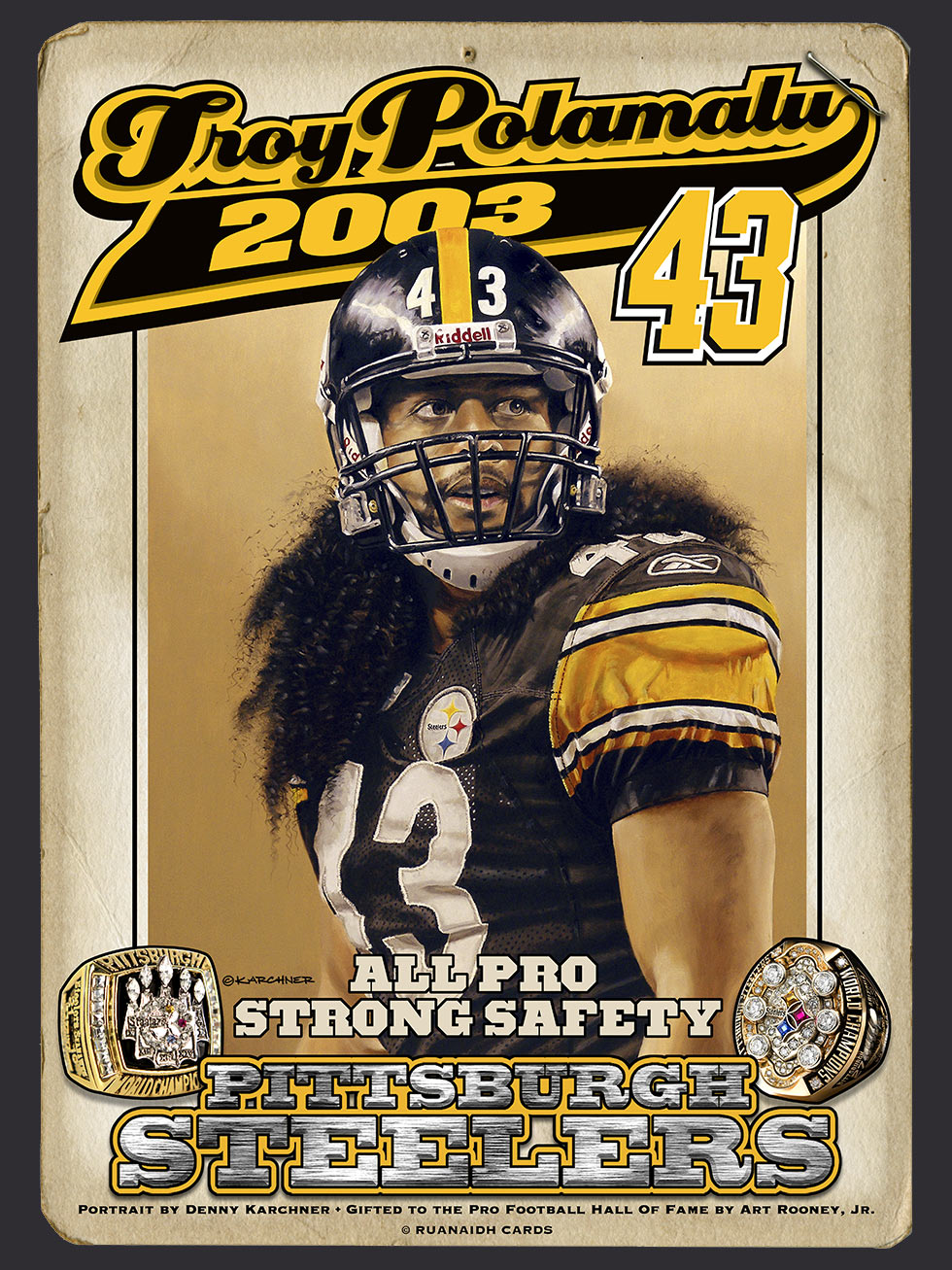 Troy Polamalu – Strong Safety Painting Card