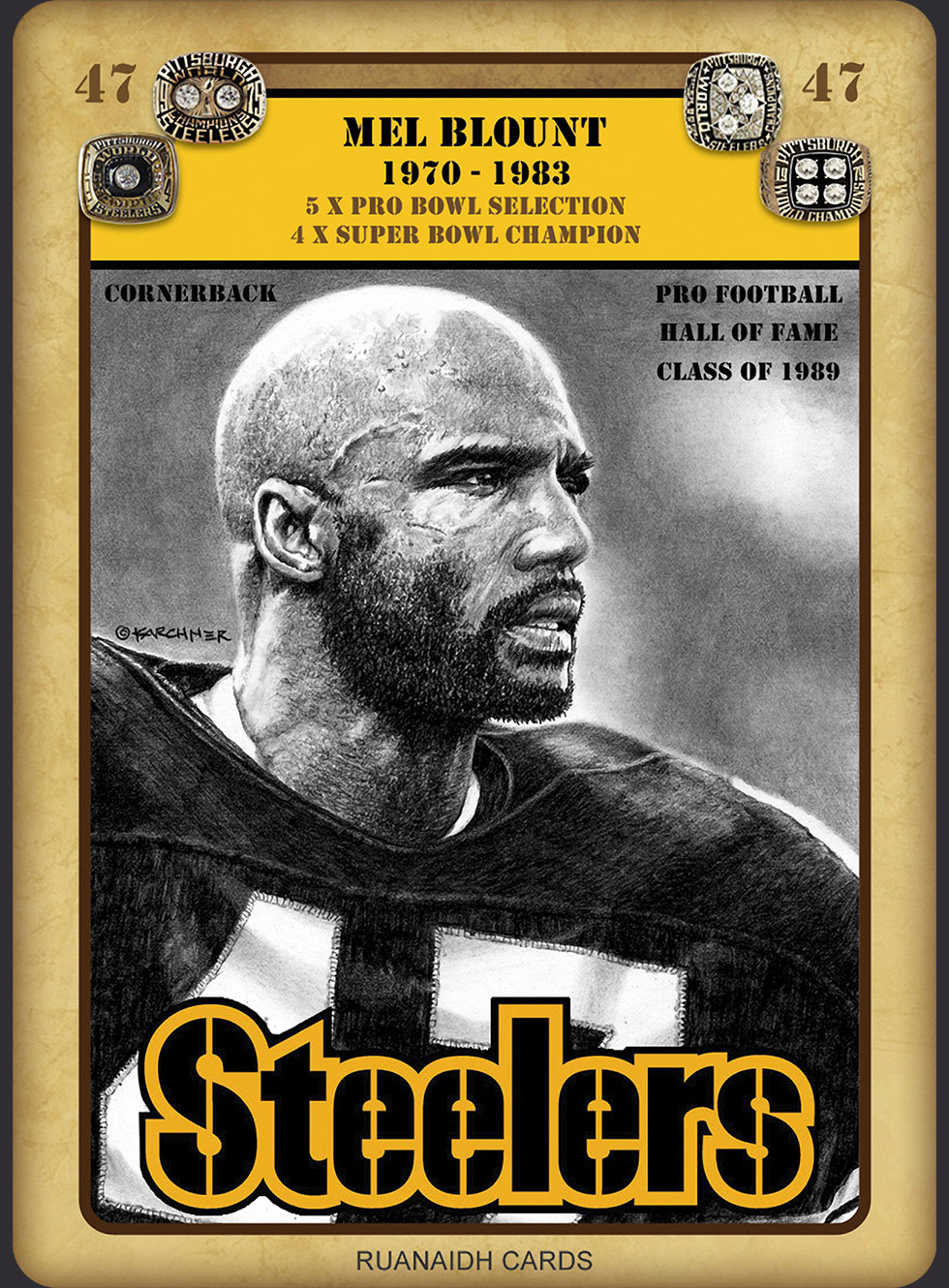 Mel Blount Collector's Card