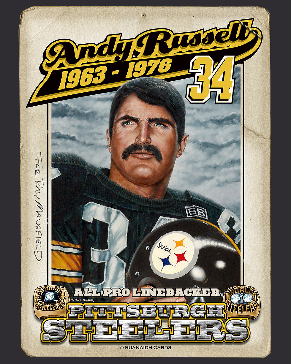 Andy Russel #34 Painting Card