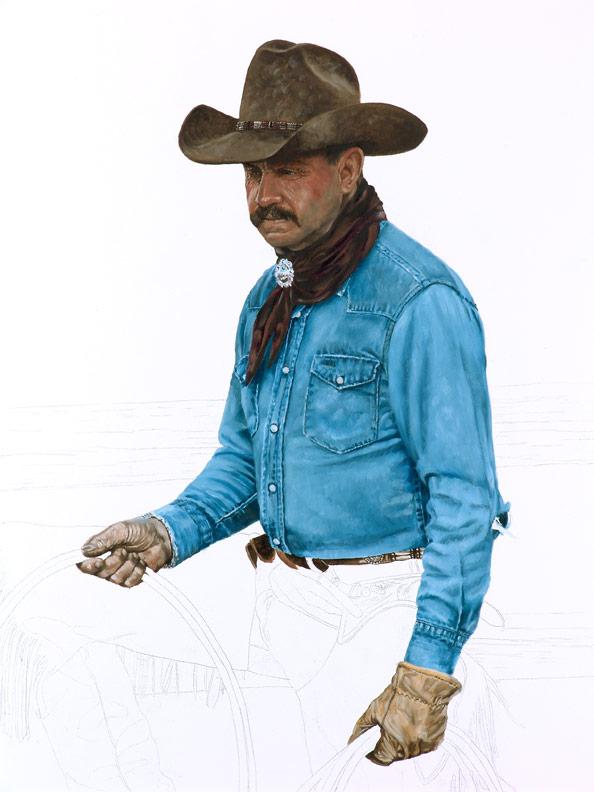Bronze Cowboy WIP 4