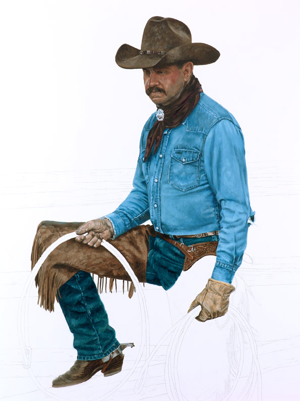Bronze Cowboy WIP 5