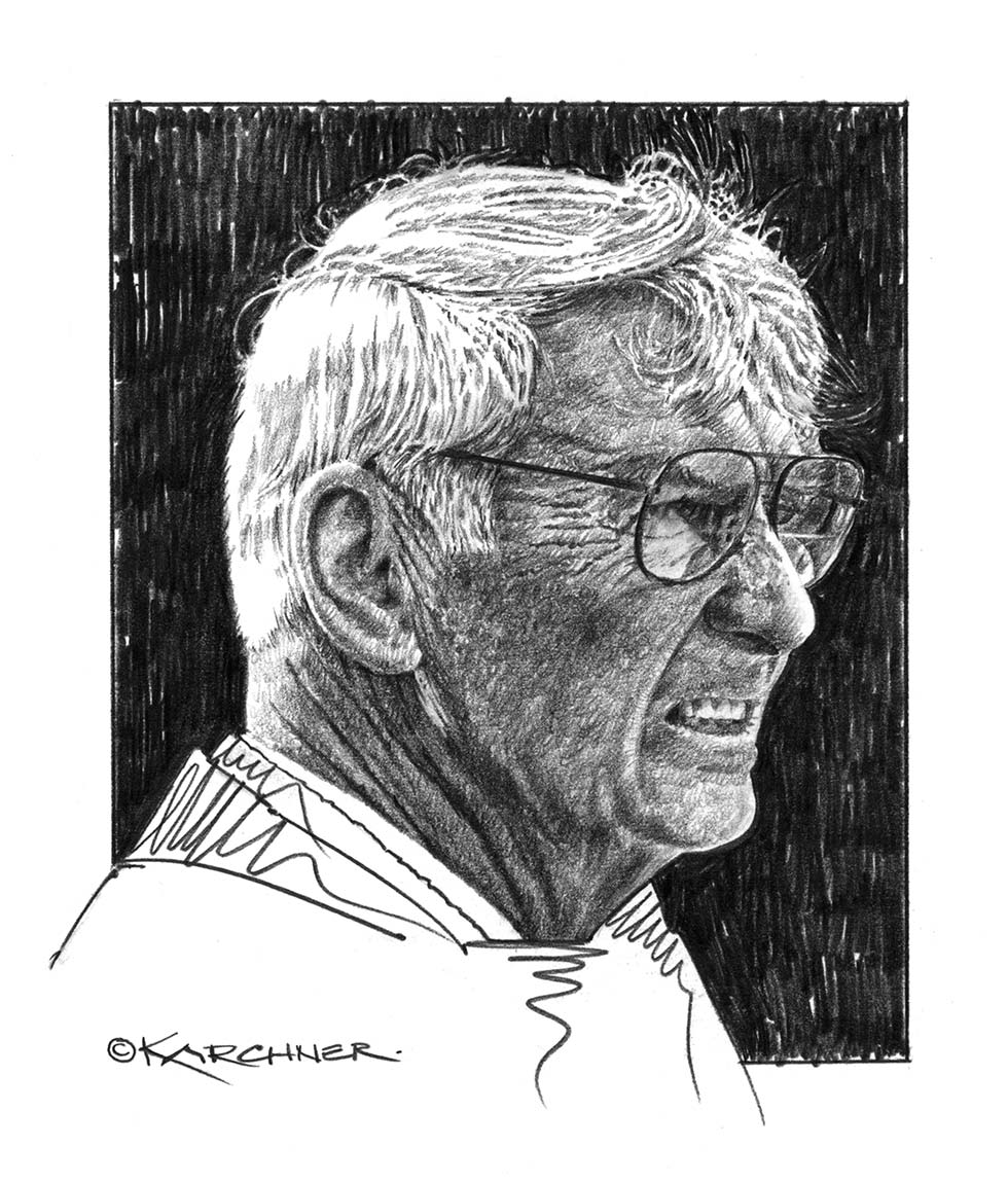 "Daniel M. Rooney €�Chairman Of The Board"" Pencil Illustration"
