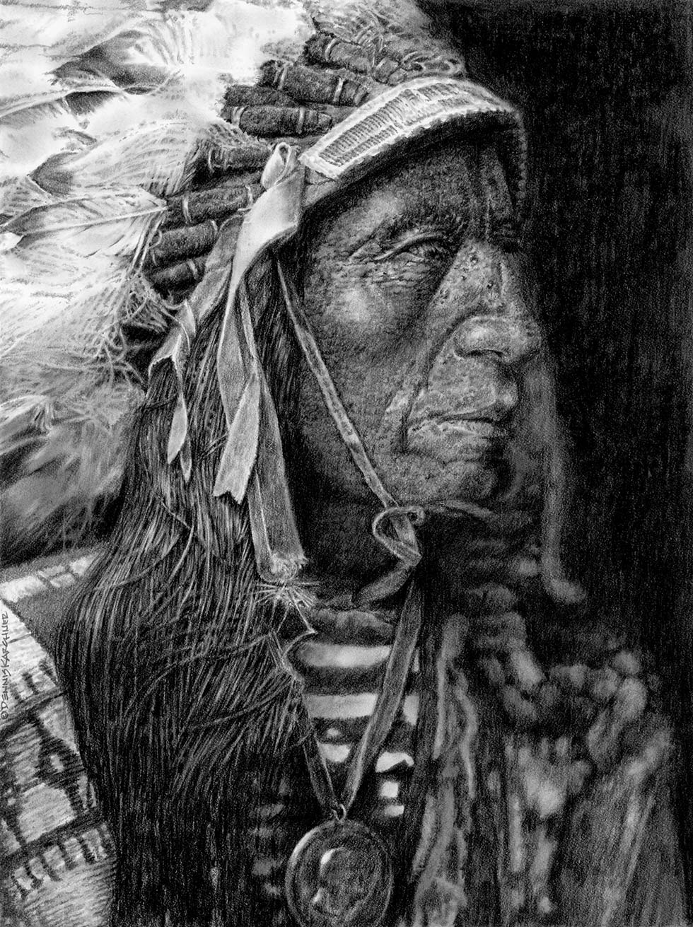 Pencil Illustration Of Jack Red Cloud