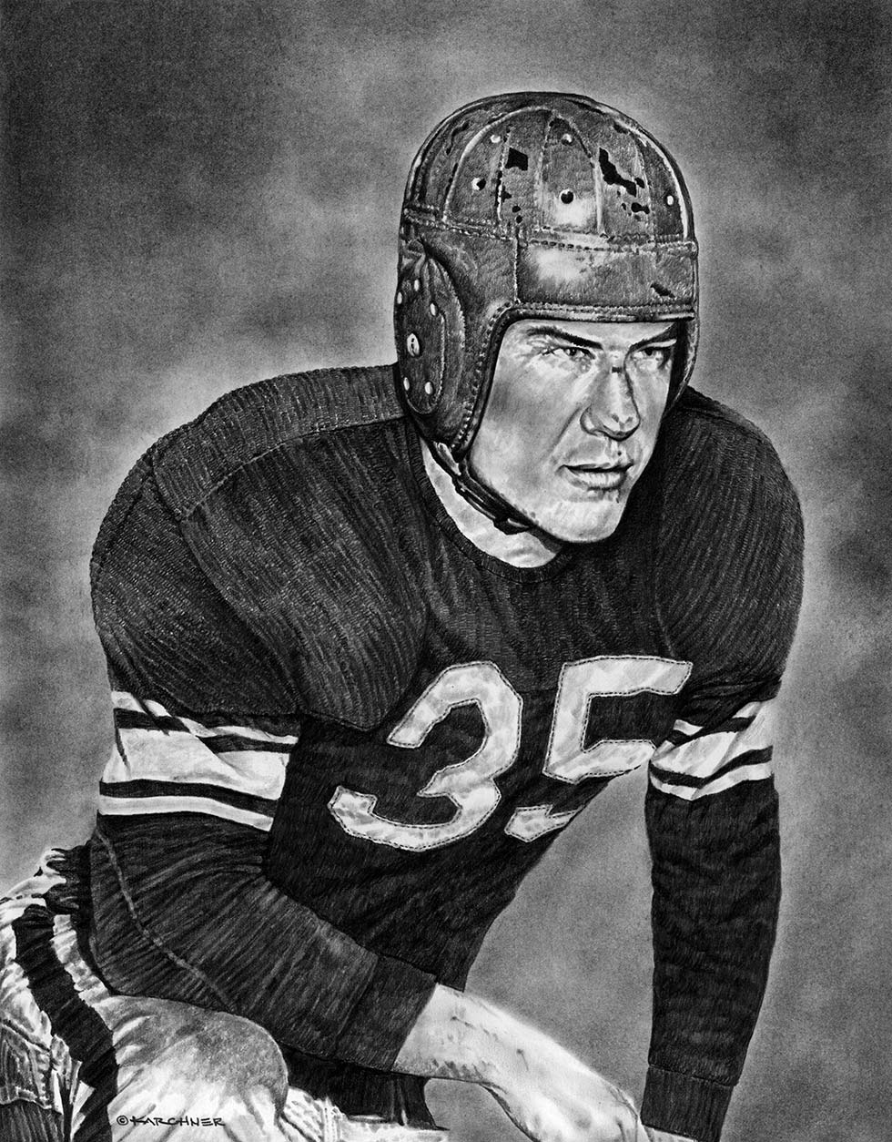 NFL Hall Of Famer, Bill Dudley Pencil Illustration