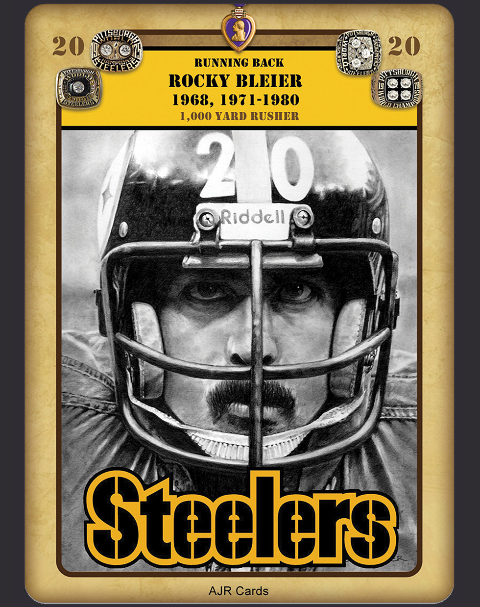 Rocky Bleier Intensity Tenth Power Card