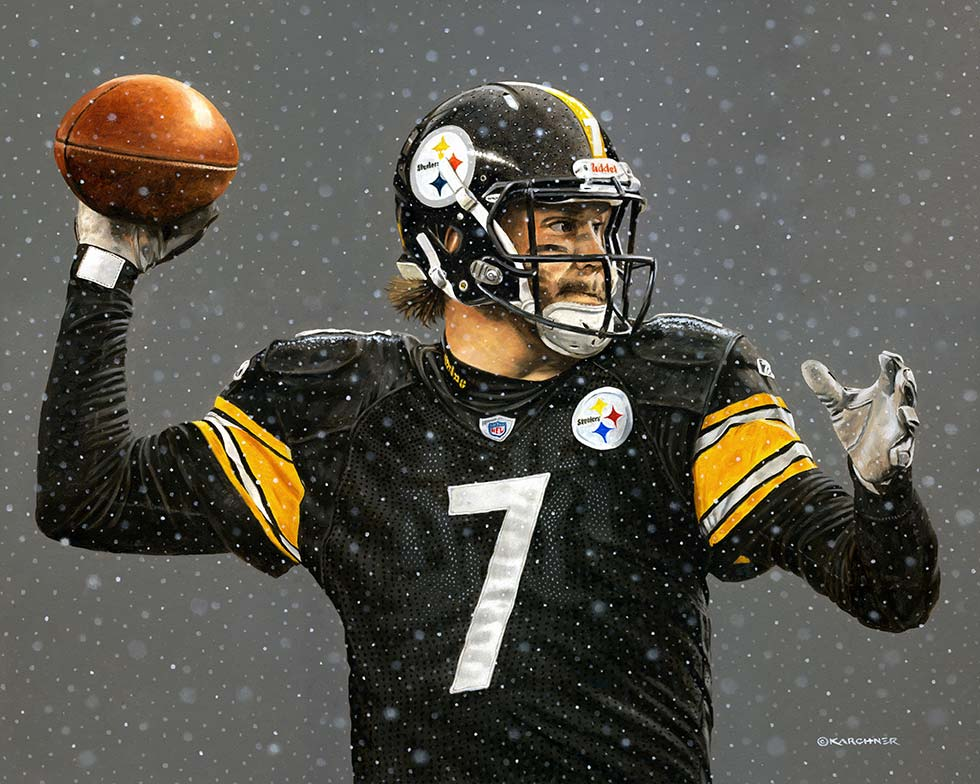 Painting Of Standing Tall – Ben Roethlisberger