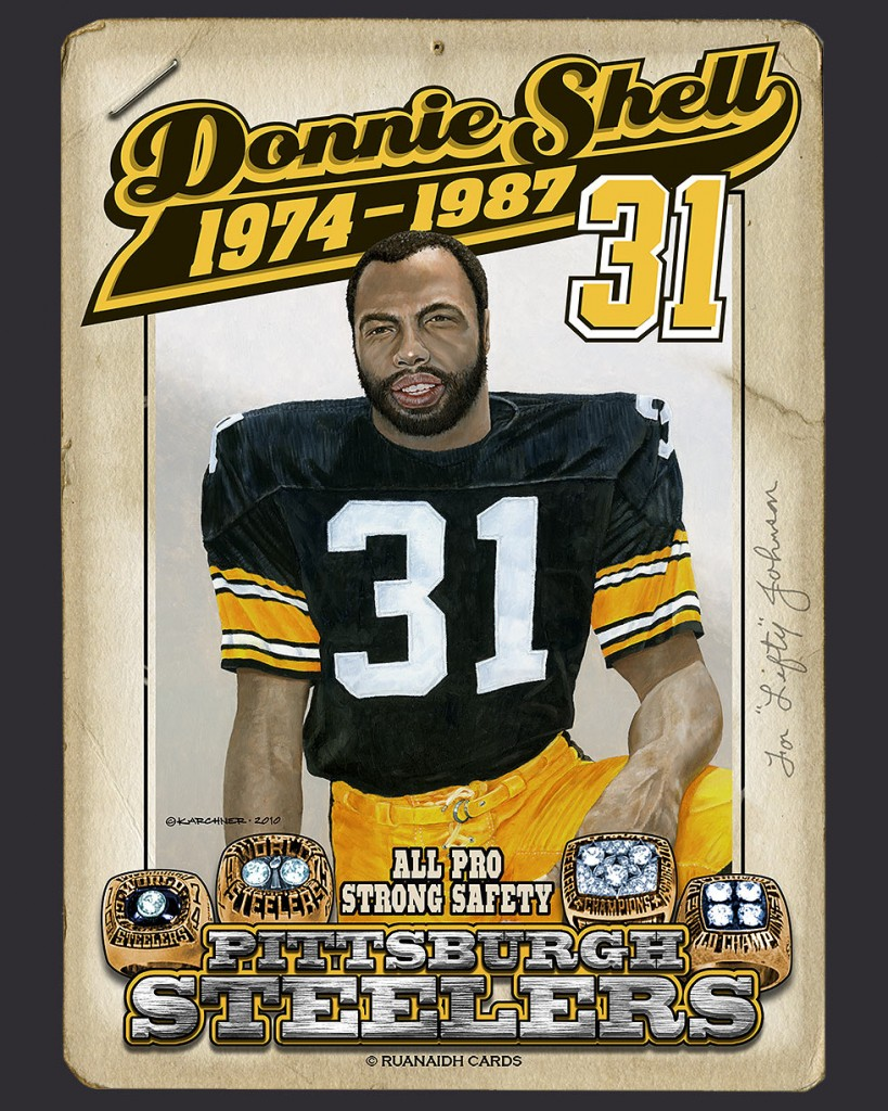 Steeler Great, Donnie Shell Card