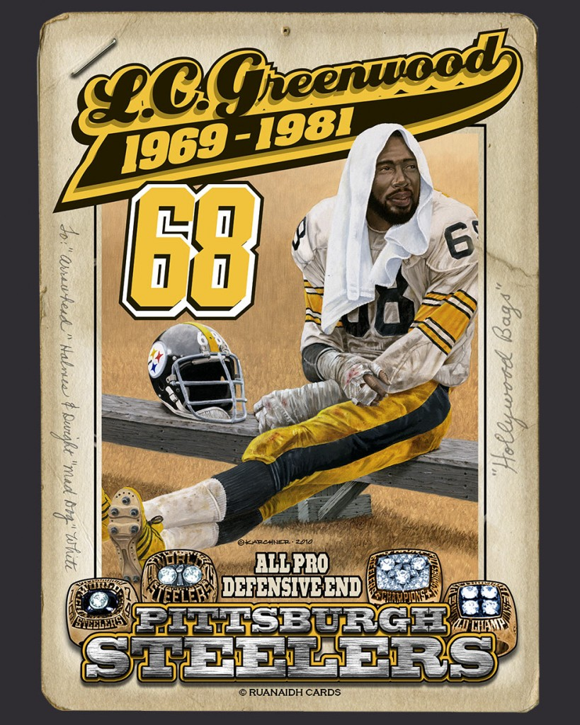 Steeler Great, L.C. Greenwood Card