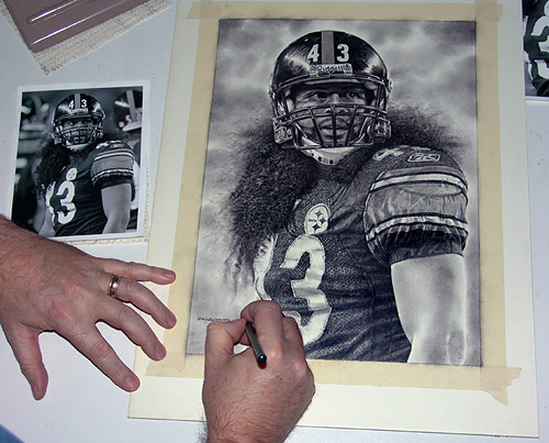 Troy Polamalu Pencil WIP 11