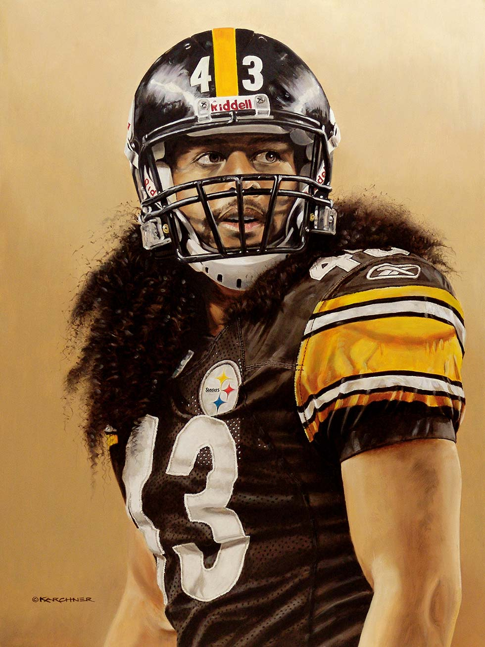 Troy Polamalu Strong Safety Painting