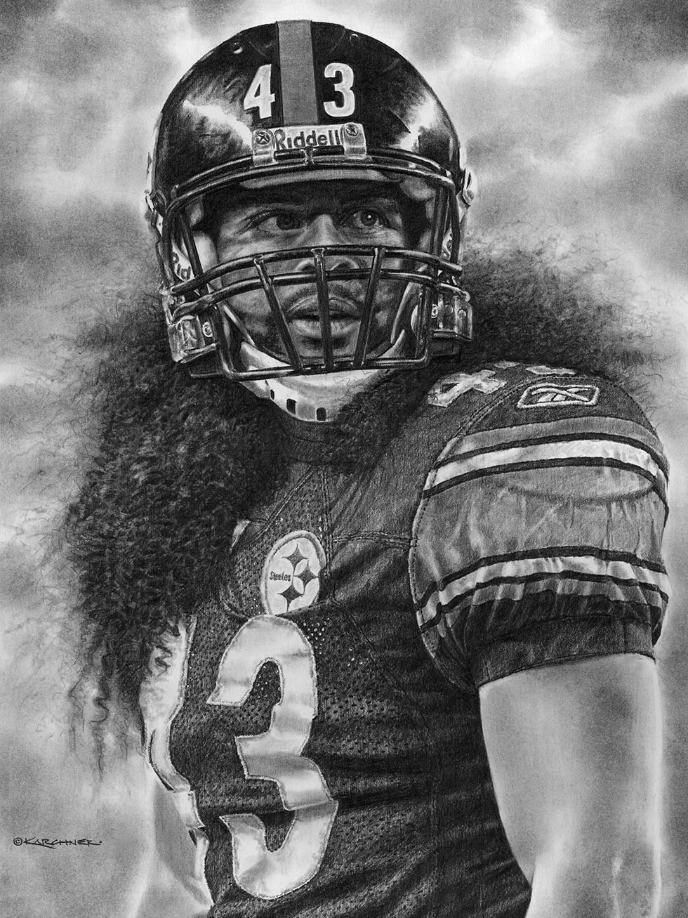 Work In Progress – Troy Polamalu – Strong Safety Pencil