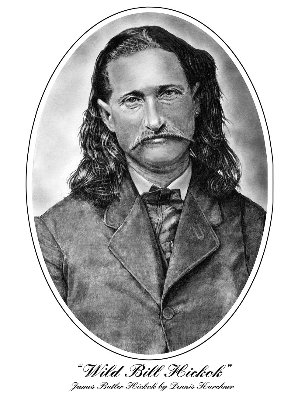 Pencil Illustration Of Wild Bill Hickok