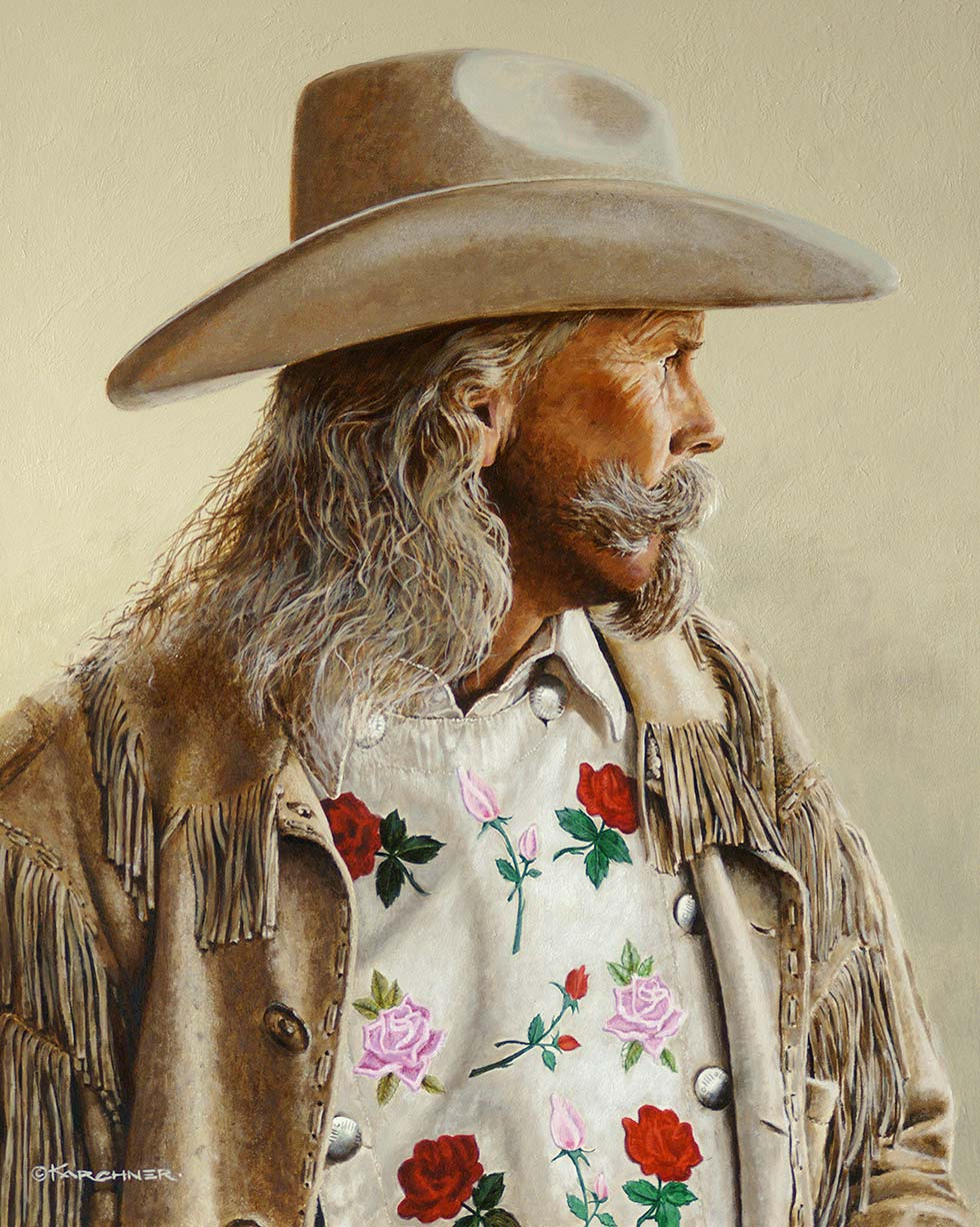 Painting Of Alan Baker As Buffalo Bill