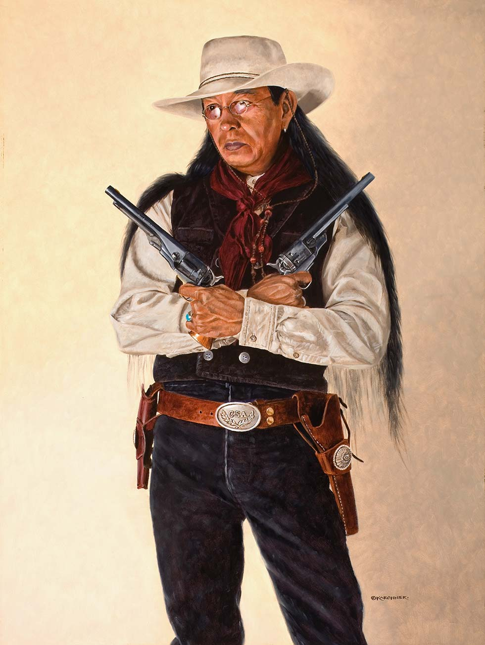 Painting Of Cherokee Outlaw