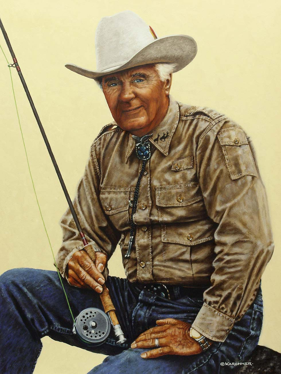 Painting Of Curt Gowdy