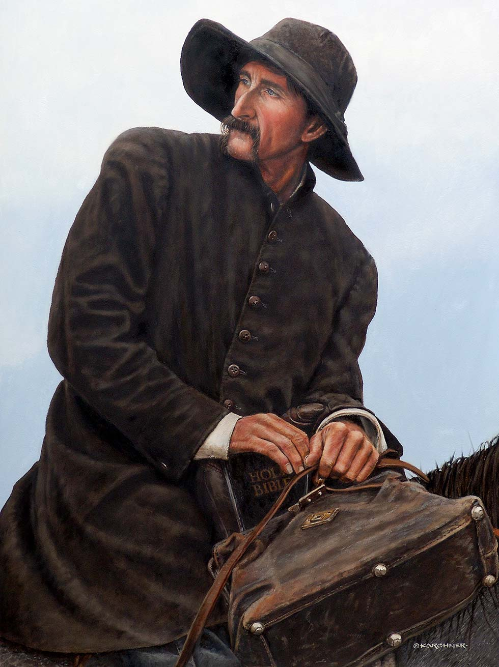 "Painting Of €�Jesus Is Coming"" The Circuit Rider"