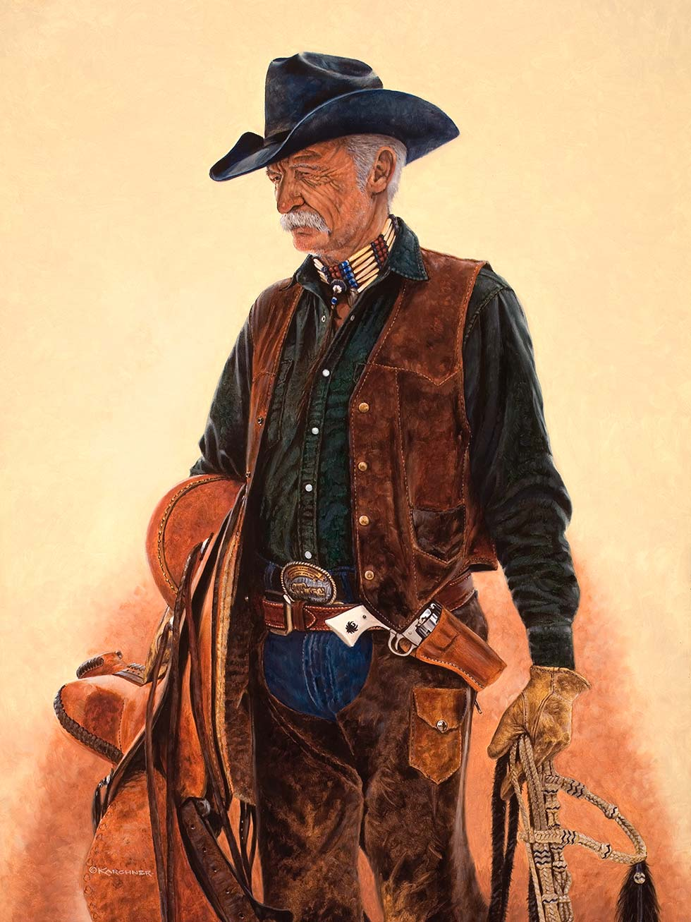 Painting Of Last Of The Real Cowboys