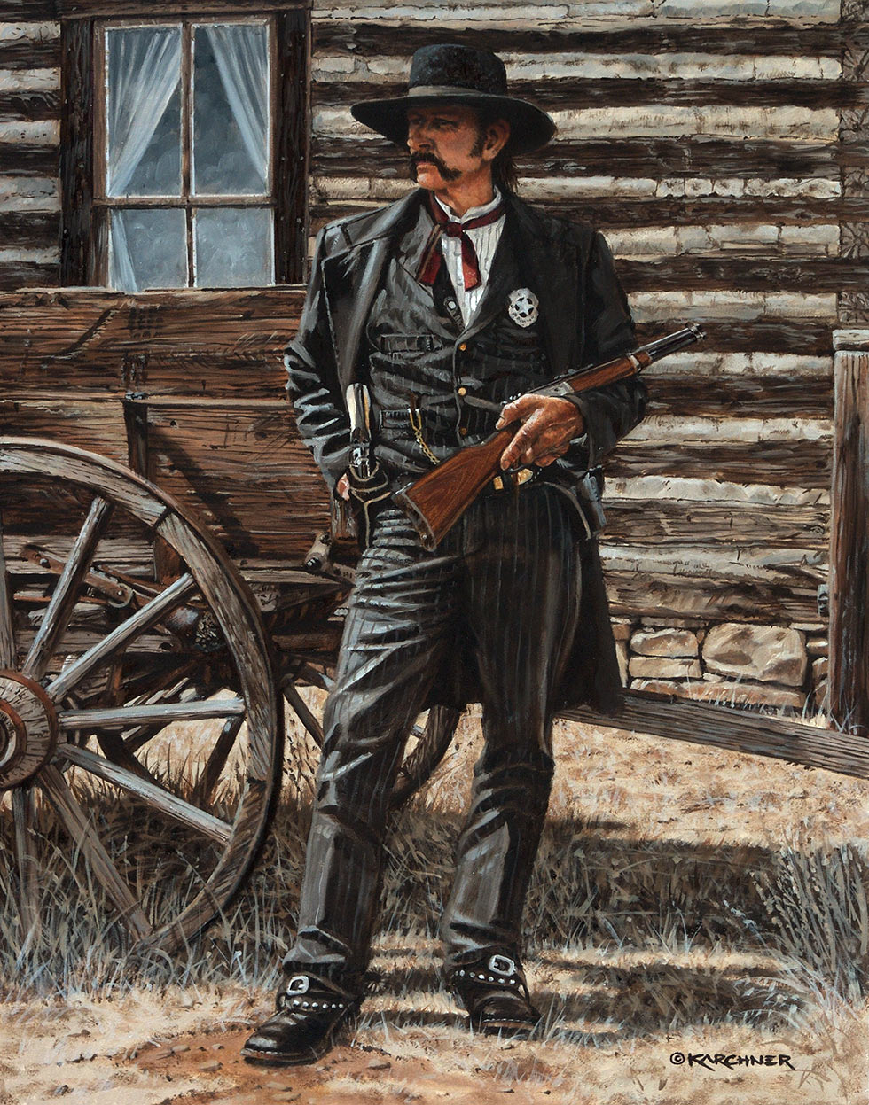 Painting Of Wyatt Earp - Something Evil This Way Comes