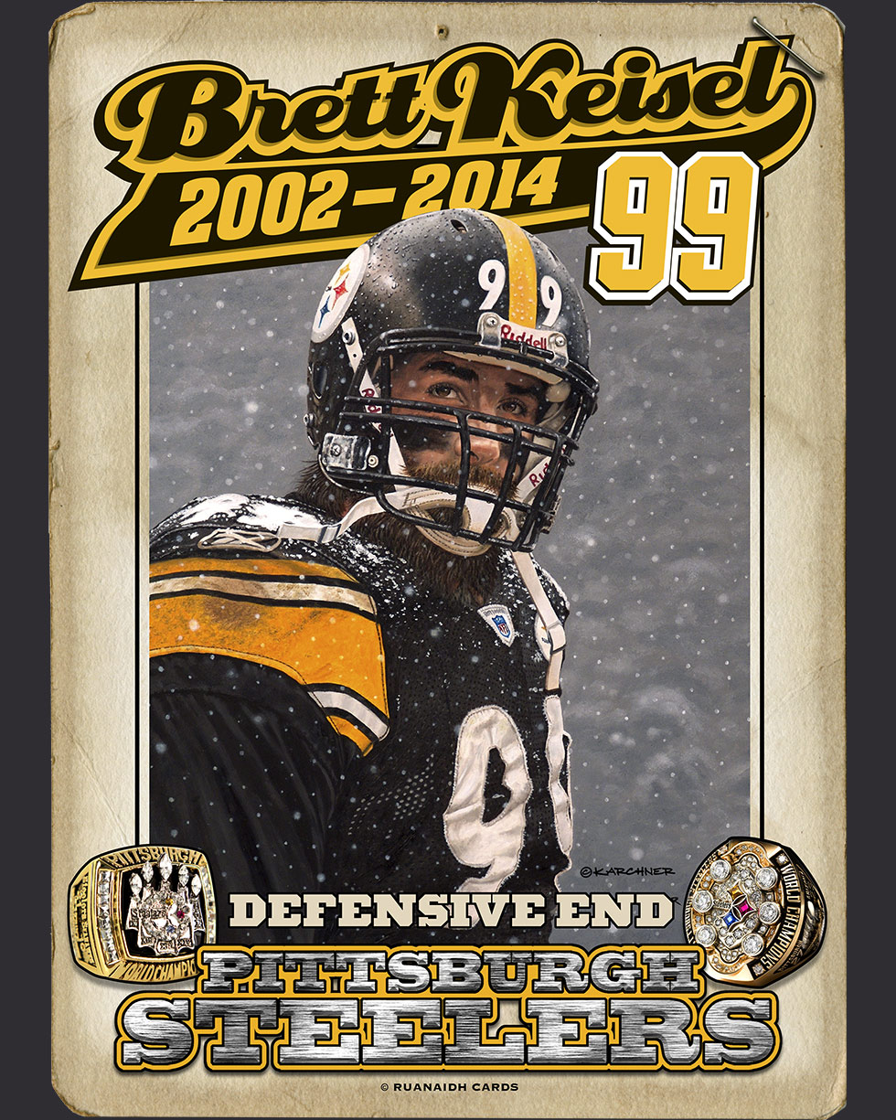 09 Seconds Remaining Brett Keisel Collector's Card