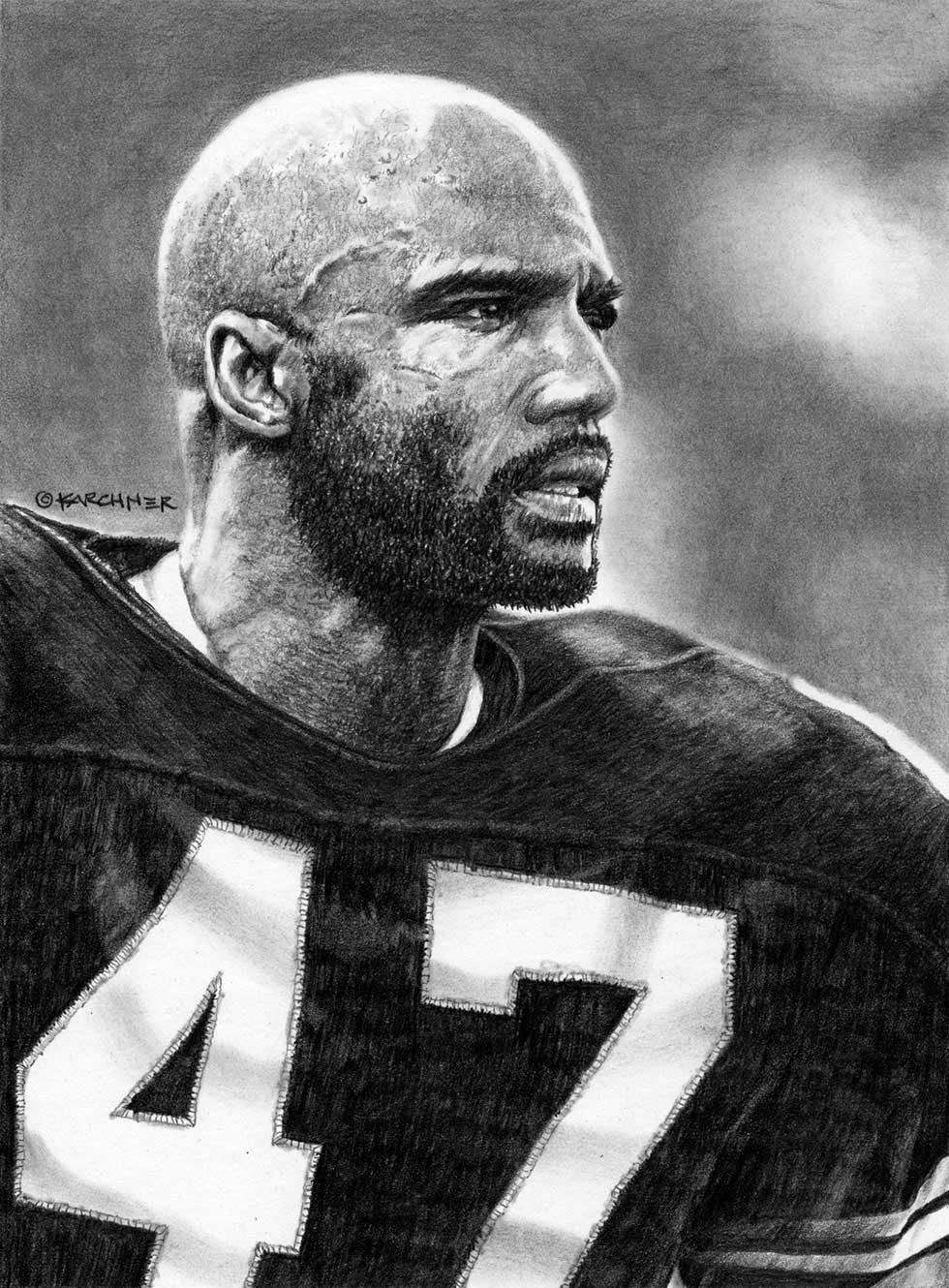 Mel Blount Pencil Illustration