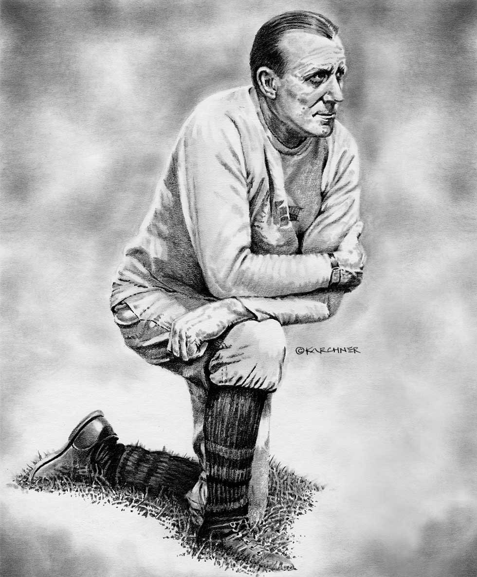 Jock Sutherland Pencil Illustration