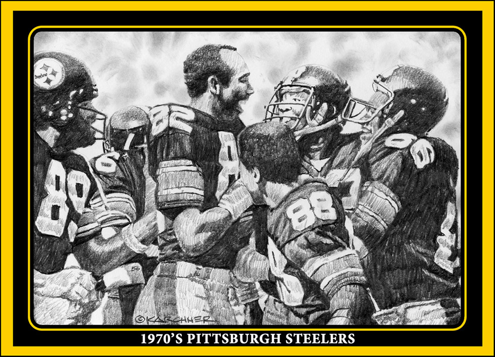 1970s Steelers trading card featuring John Stallworth and Lynn Swann